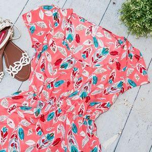 Xhilaration Size M Feather Coral Summer Dress